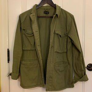 Topshop Army Green Military Utility Light Jacket